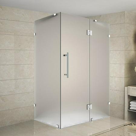 Aston Avalux 42 x 72 Hinged Frameless Shower Door