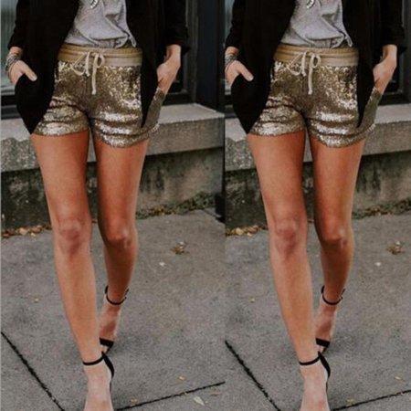 Gorgeous Fashion Women Pants Summer Casual Loose Shorts Sequin Beach High Waist Short Trousers for $<!---->