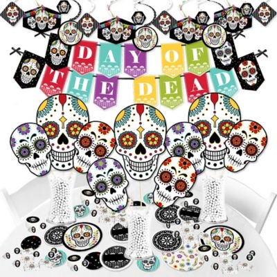 Day of the Dead - Halloween Sugar Skull Party Supplies - Banner Decoration Kit - Fundle Bundle