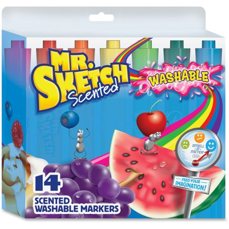 Newell Mr Sketch (Mr. Sketch® Scented Washable Chisel Marker Sets, 14-Color )
