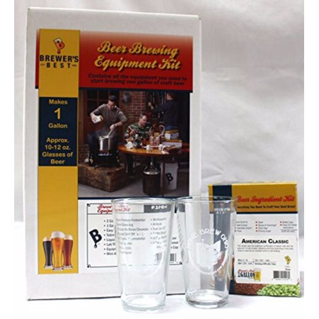 Brewer's Best One Gallon Equipment and Ingredient Kit-American Classic with