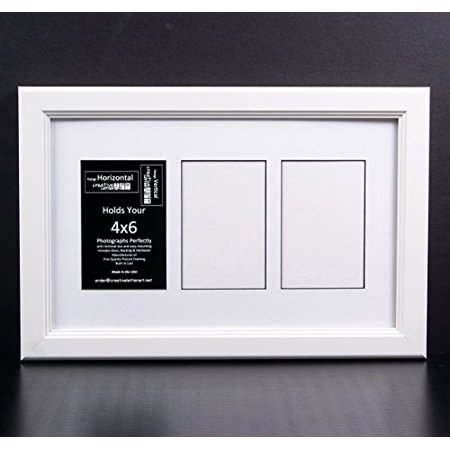 Creative Letter Art [10x16 3 Opening Glass Face White Picture Frame ...