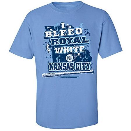 "Kansas City Royals ""I Bleed Royal and White Go Kansas City!"" T-shirt"