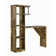 5-Shelf Bar Table Storage Antique Nutmeg