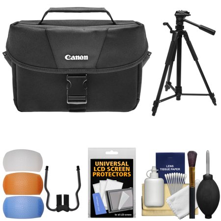 Canon 100ES Digital SLR Camera Case with Tripod + Flash Diffusers + Kit for EOS 70D, Rebel T5, T5i, T6i, T6s, SL1 DSLR Cameras