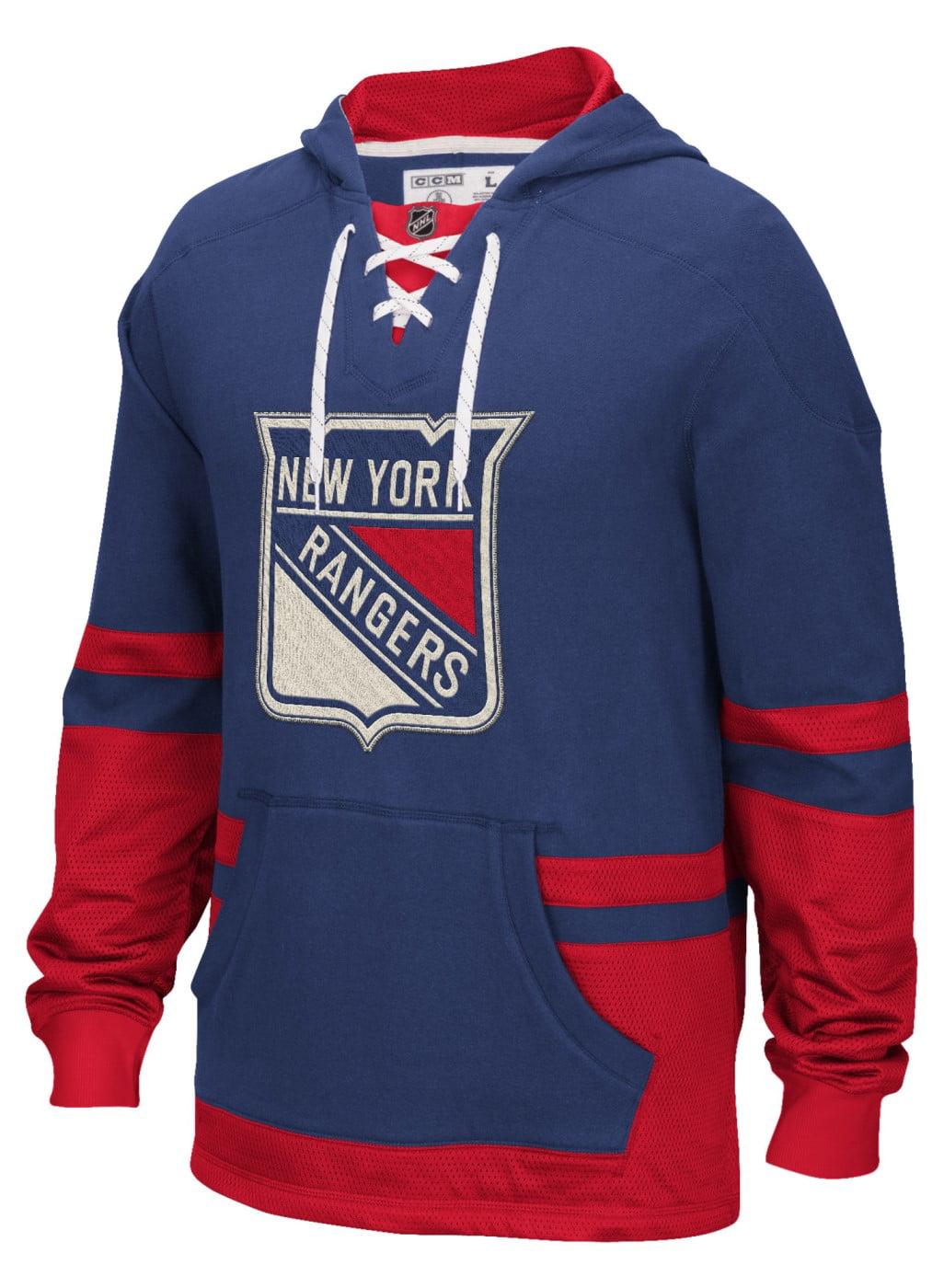"New York Rangers CCM NHL ""Hit the Boards"" Men's Vintage Jersey Sweatshirt by Reebok"