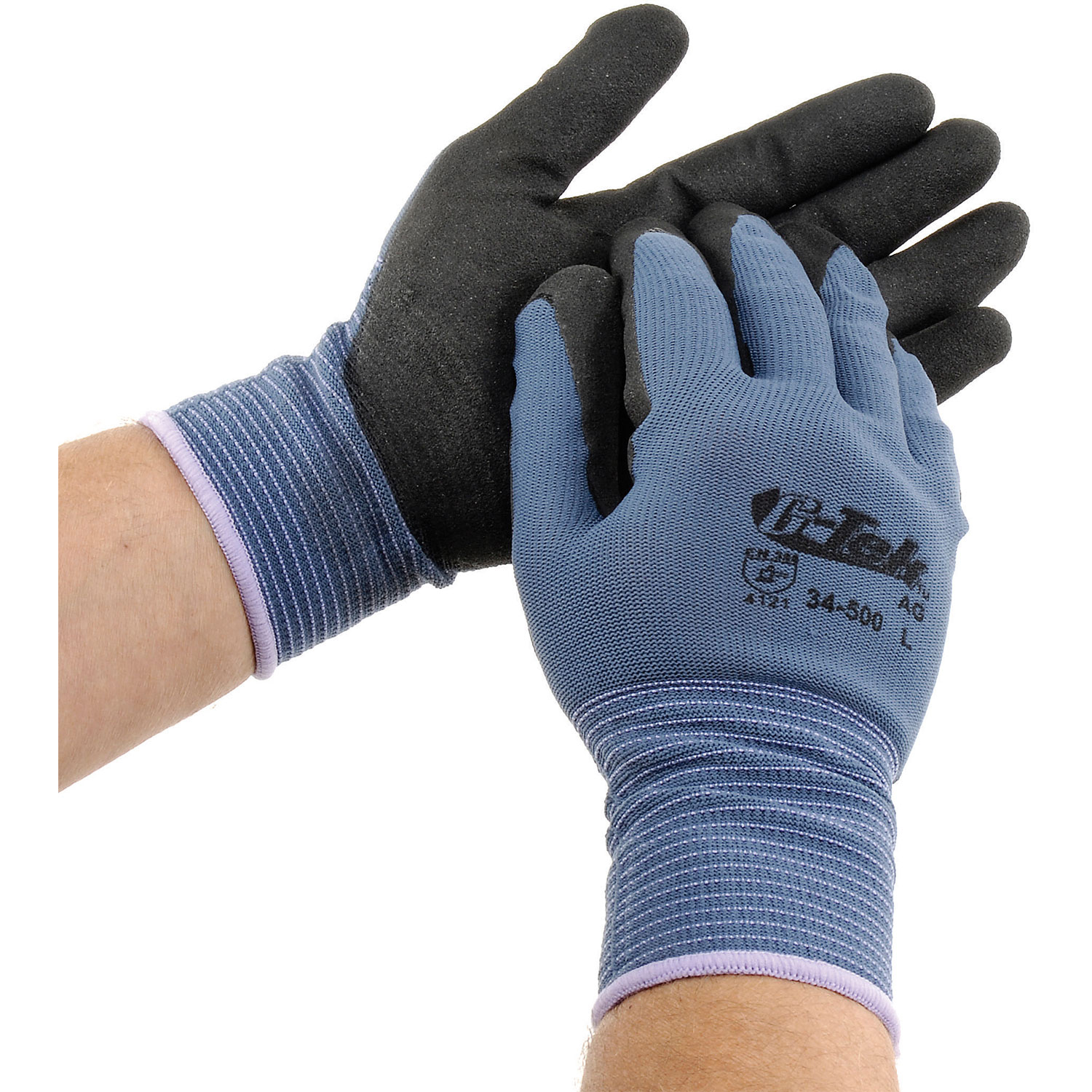 PIP G-Tek® Nitrile MicroSurface Nylon Grip Gloves, Blue/Black, XL, 12 Pairs, Lot of 1