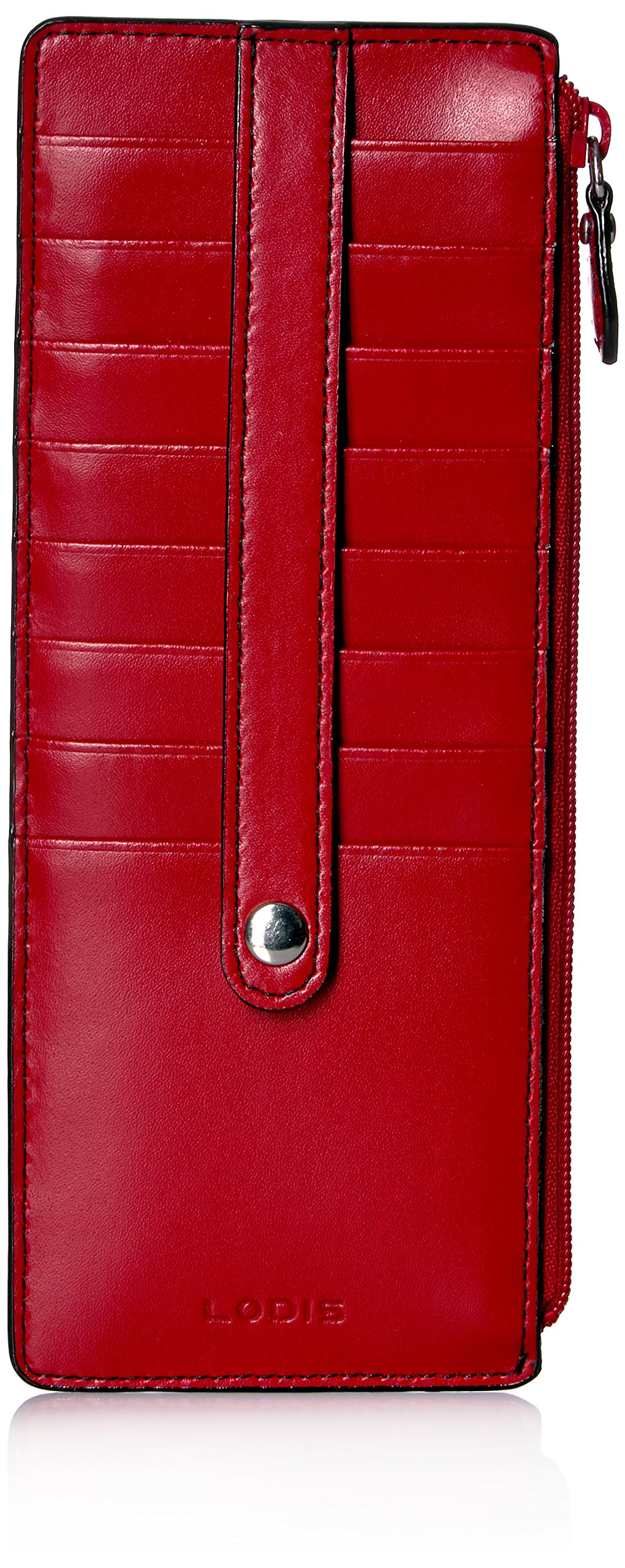 LODIS - Lodis Audrey RFID Credit Card Case with Zipper Pocket (Red) - Walmart.com