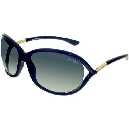 Tom Ford Womens Jennifer Ft0008 90W 61 Blue Oval Sunglasses