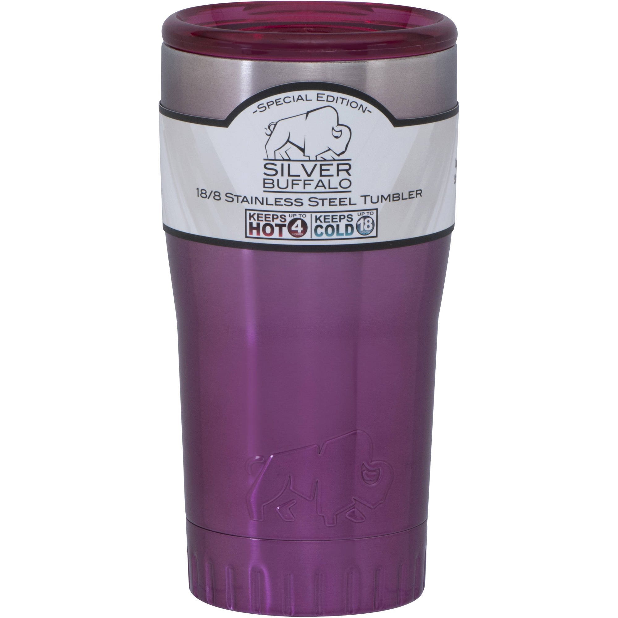 20 oz Stainless Steel Tumbler Cup by Silver Buffalo Ombre Pink by Generic