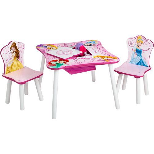 Disney Princess Toddler Table and Chair Set with Storage Image 4 of 4  sc 1 st  Walmart & Disney Princess Toddler Table and Chair Set with Storage - Walmart.com