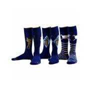 TeeHee Men's Golf Cotton Crew Socks 3-Pairs Assorted (Khaki)