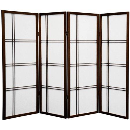 4' Tall Double Cross Shoji Screen (Shoji Screens Japanese Decor)