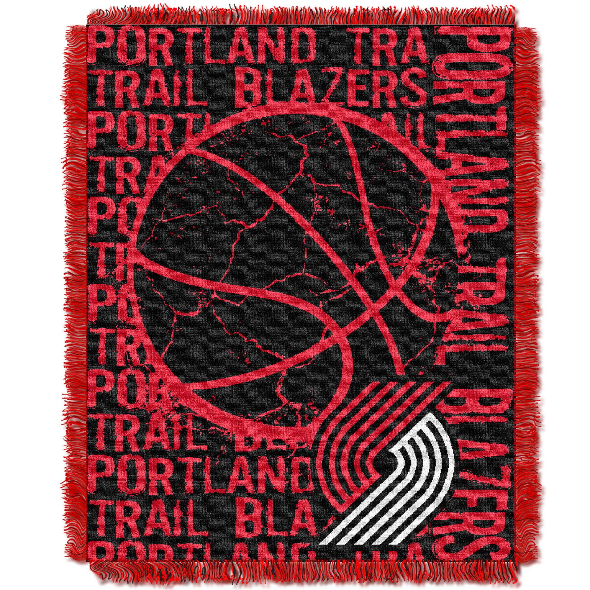 Portland Trail Blazers The Northwest Company 46'' x 60'' Double Play Jacquard Throw - No Size