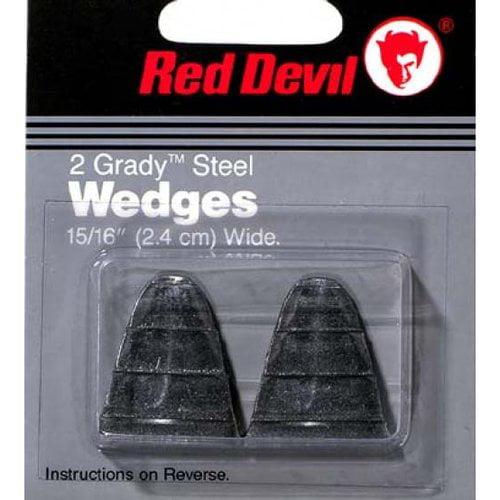 Red Devil 8061 2 Pack Size 10 Grady Steel Handle Wedges