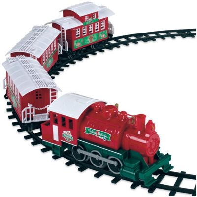 Christmas Train Set.Lionel 933024 Christmas Train Set 4 Pc