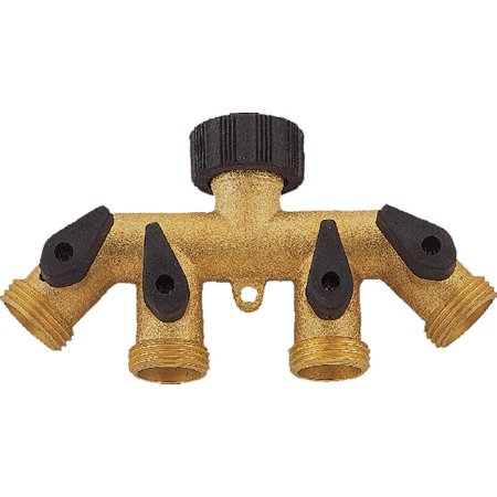 Mintcraft GB9114A Brass 4-Way Faucet Manifold