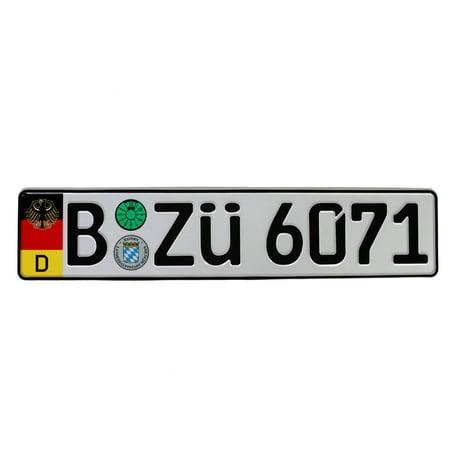 European Plate - German Coat of Arms License Plate