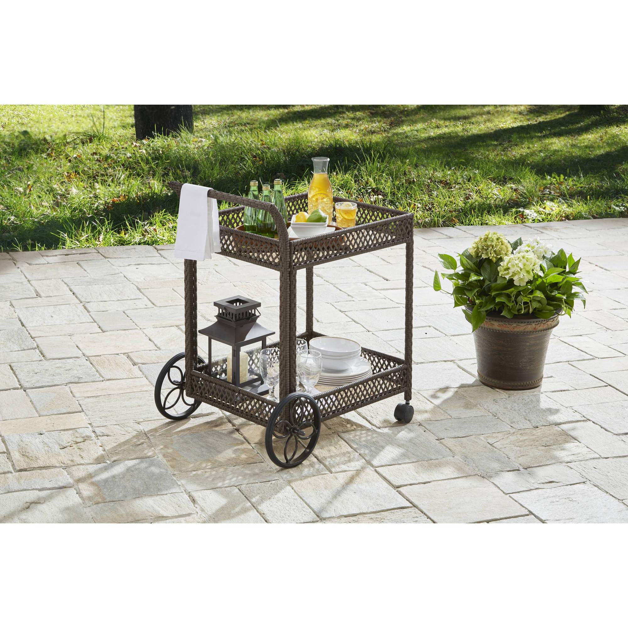 Better Homes and Gardens Colebrook Outdoor Serving Cart by