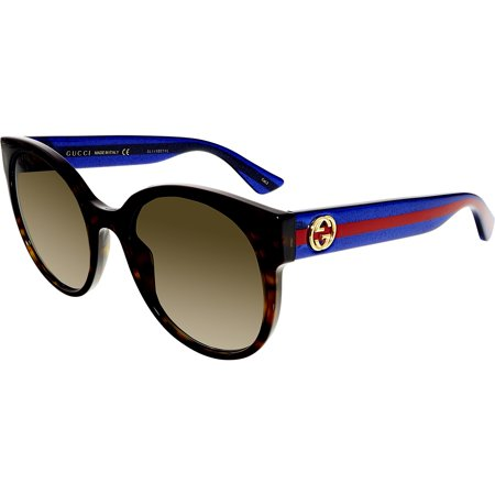 Gucci GG0035S-004-54 Blue Butterfly Sunglasses