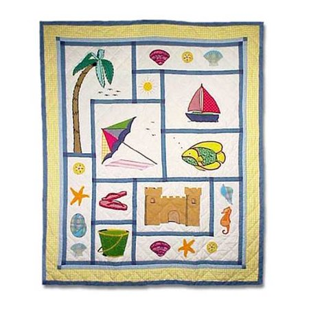 Patch Magic Thsfun Summer Fun  Throw 50 X 60 Inch