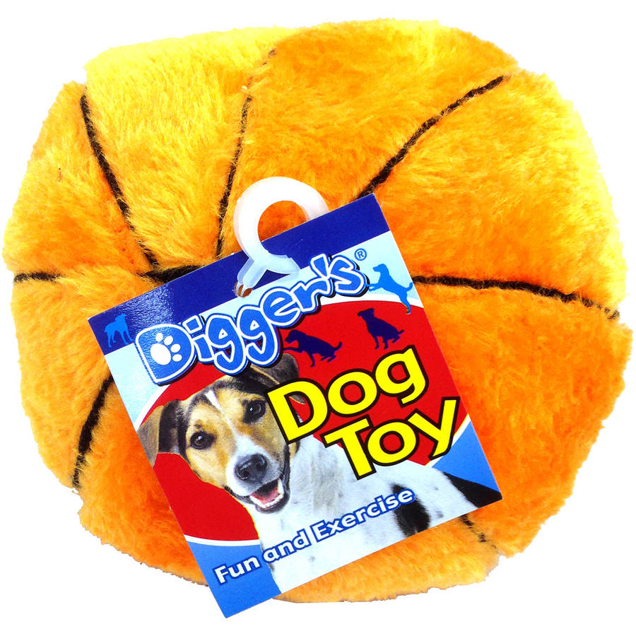 "Boss Pet 0880916 5"" Plush Basketball Dog Toy, Assorted Colors by Generic"