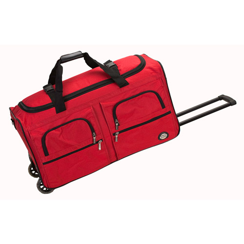 "Rockland Luggage Voyage3 36"" Rolling Duffle Bag, Red"