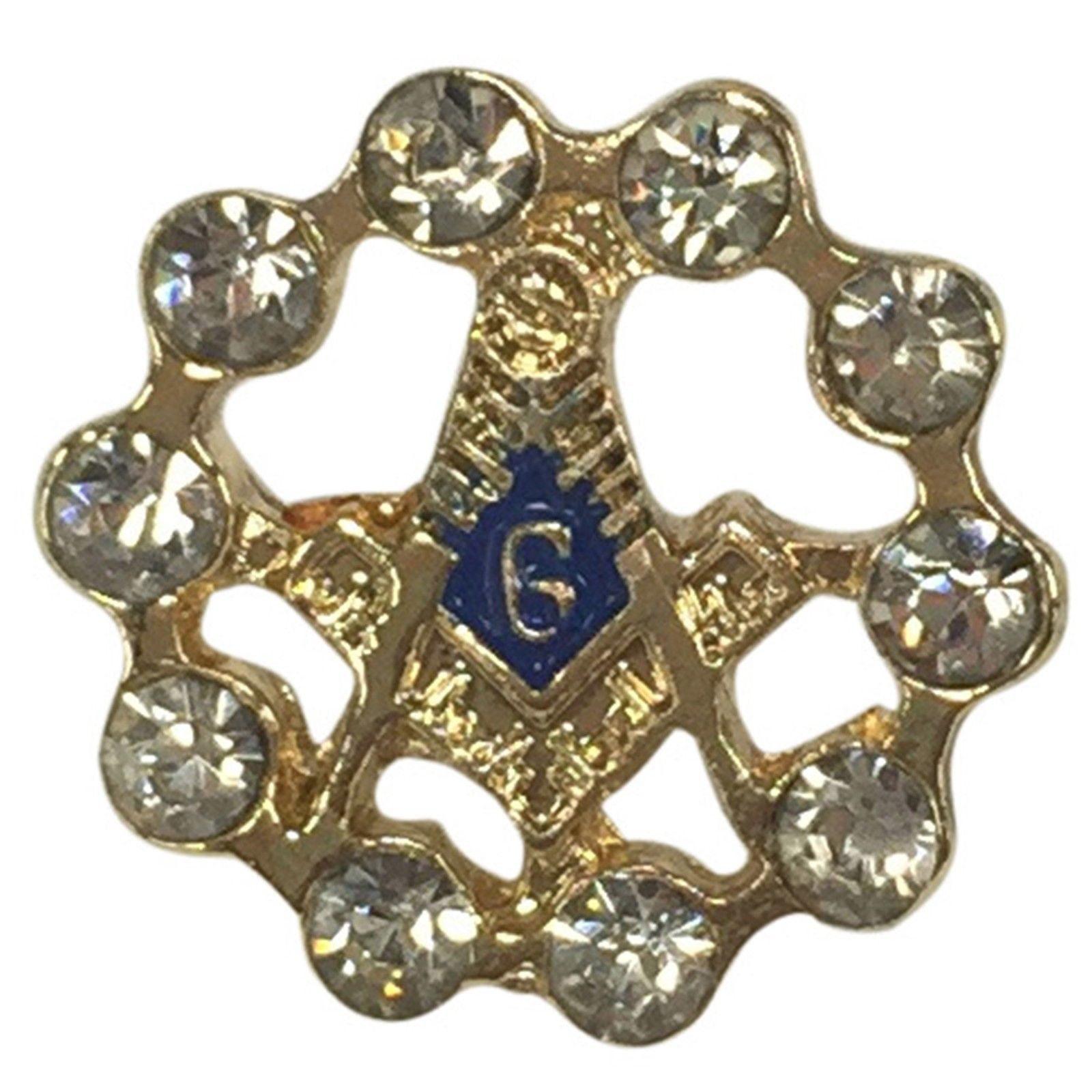 FZ2185 - Mason/Masonic Rhinestone Pin