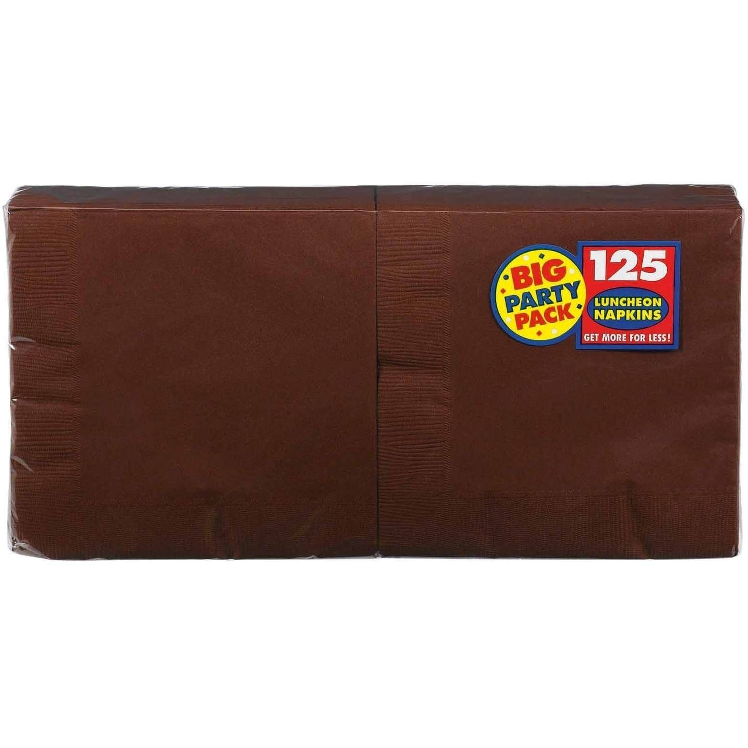 Chocolate Brown Big Party Pack, Lunch Napkins, Pack of 125