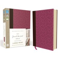 NIV, Journal the Word Bible, Large Print, Imitation Leather, Pink/Brown: Reflect, Journal, or Create Art Next to Your Favorite Verses (Other)(Large Print)