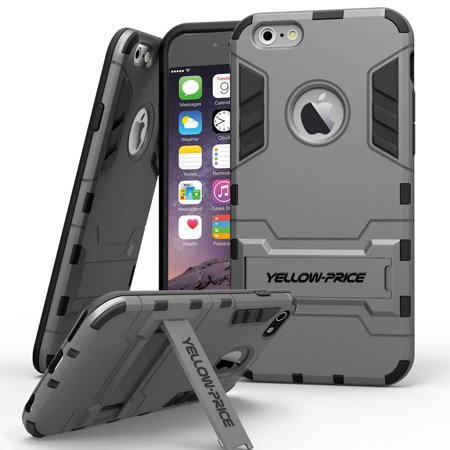 LivEditor iPhone 6 Plus 5.5'' Protective Case Armor [Built-in Stand+Anti-Shock Cover] - image 3 de 7