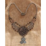 Steampunk Gear Chain Antique Necklace Adult Halloween Accessory