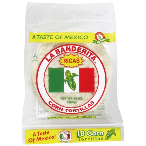 La Banderita Corn Tortillas, 18ct