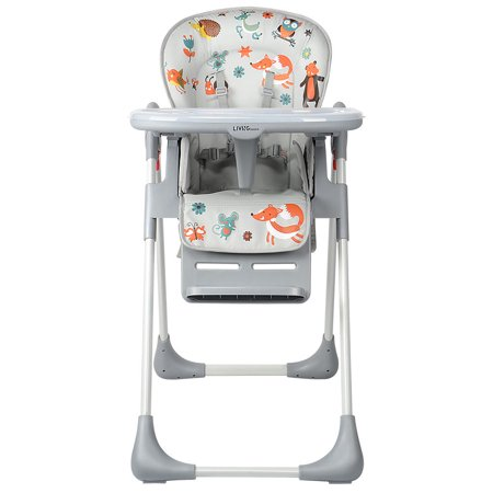 Baby High Chair With Basket, Booster Toddle Highchair, 6-Position Adjustable Seat Height, 3-Position Adjustable Food Tray - image 5 of 12