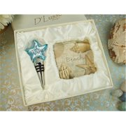 DLusso Designs B32-5 Murano Design Stopper With 2 Coaster Set Beach, Pack Of - 3.