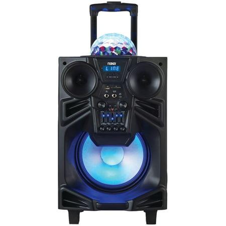 Naxa Nds 1001 10   Portable Dj Pa Speaker With Bluetooth   Disco Dome Light