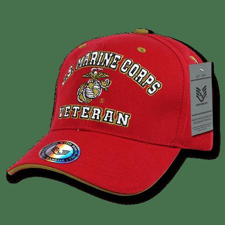 USMC Marines Veterans Caps Hats Red Military Usmc Insignia Caps