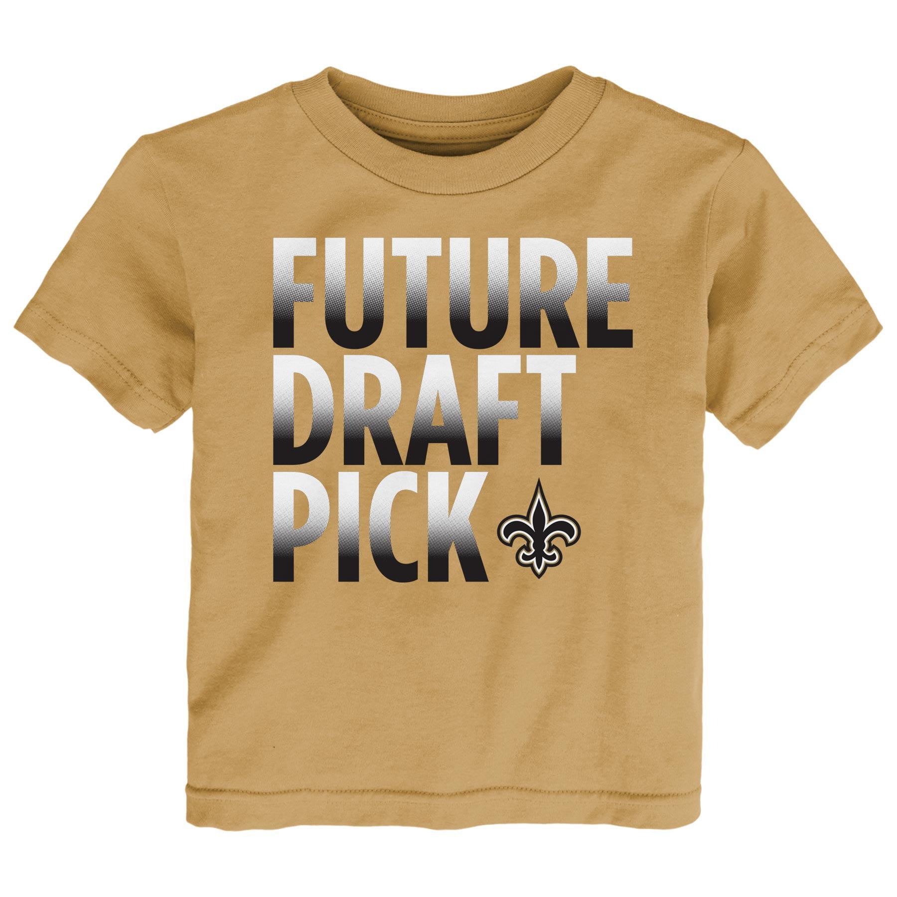 New Orleans Saints Preschool Future Draft Pick T-Shirt - Gold