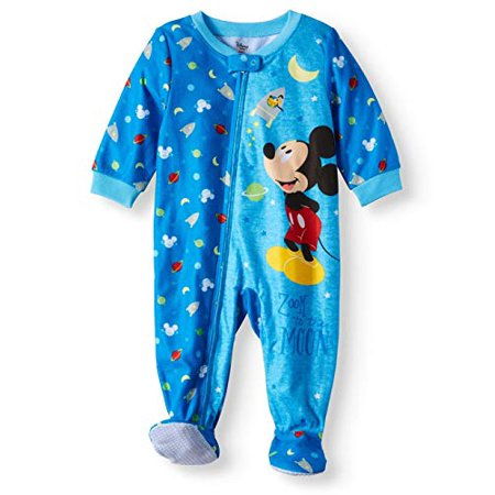 Mickey Mouse Zoom to The Moon Microfleece Footed Blanket Sleeper (18m) Blue