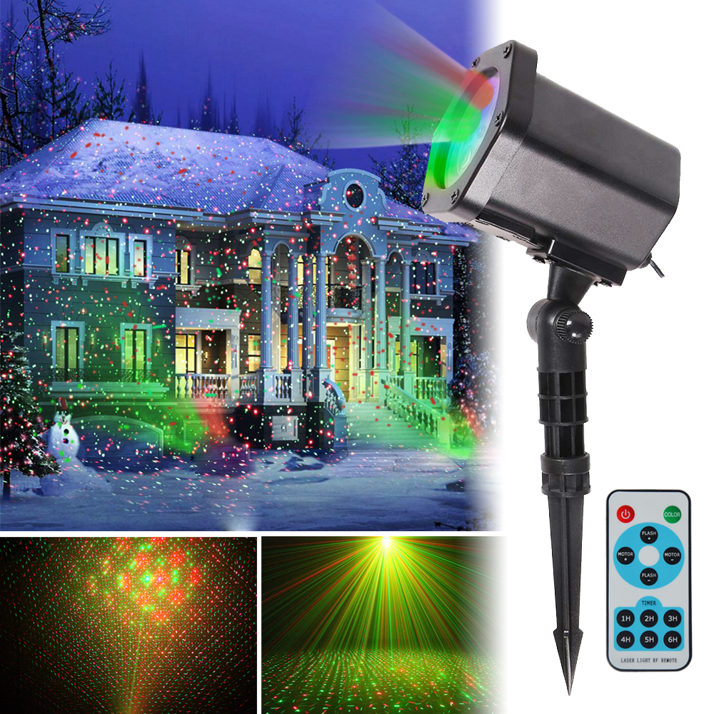 LANYI Christmas Laser Lights with Wireless Remote, Red an...