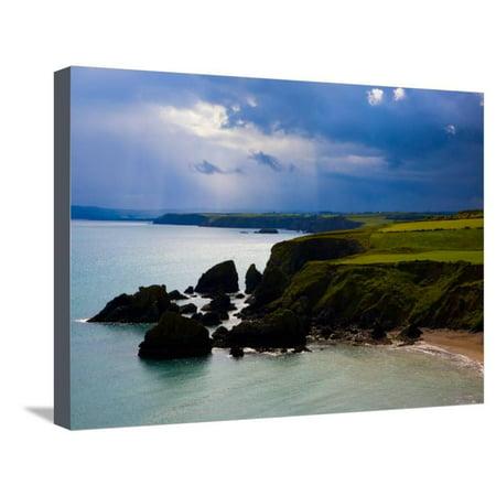 Ballydowane Beach, Copper Coast, County Waterford, Ireland Stretched Canvas Print Wall Art