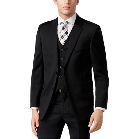 Tommy Hilfiger Mens 100% Wool Suit Separate Two Button Blazer Jacket Button Fly Suit
