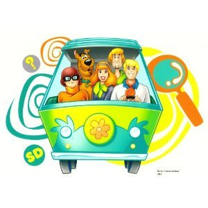 Scooby Doo Mystery Machine Edible Frosting Image 1/4 sheet - Scooby Doo Cake Decorations