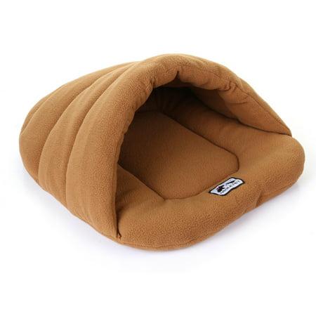 Soft Polar Fleece Pet Mat Winter Warm Nest Pet Cat Small Dog Puppy Kennel Bed Sofa Sleeping Bag Camel M - image 3 de 7