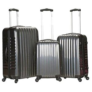 Rockland Luggage 3-Piece Carbon ABS Spinning Luggage Set