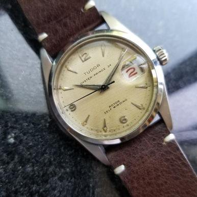 - Rolex Tudor Vintage 1957 Oyster Prince 34 Automatic 7914 Swiss Mens Watch LV349