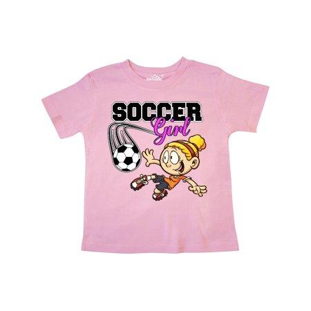Soccer Girl Toddler T-Shirt (Best Girl Soccer Team)