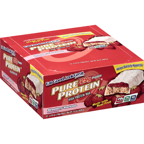 Pure Protein Strawberry Shortcake High Protein Bars, 2.75 oz, 12ct