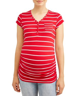 65825a8b485 Product Image Maternity Stripe with Pocket Knit Top - Available in Plus  Sizes