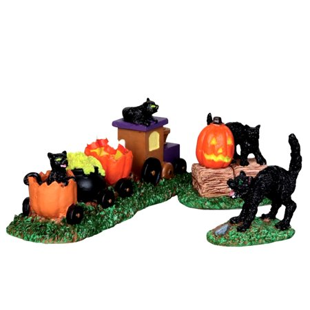 Lemax 22023 TRICK-OR-TREAT TRAIN Spooky Town Figurine Retired Halloween Decor - Lemax Halloween Train